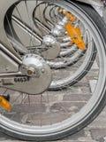 骑自行车城市 图库摄影