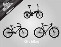 骑自行车城市 库存图片