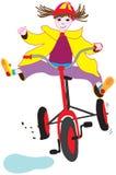 骑自行车她的佐伊 免版税库存照片