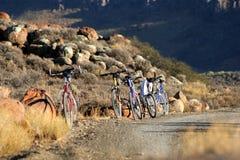 骑自行车山 库存图片