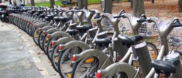 骑自行车巴黎 免版税库存图片
