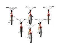 骑自行车形成 图库摄影