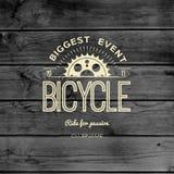 骑自行车徽章商标和标签其中任一的用途 免版税图库摄影