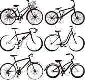 骑自行车概述剪影 库存照片