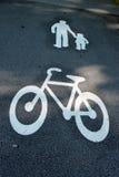 骑自行车步行者方式 免版税库存图片