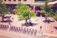 骑自行车海德公园租务 库存图片