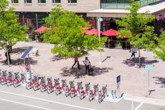 骑自行车海德公园租务 免版税库存图片