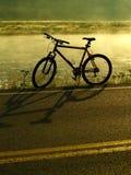 骑自行车湖岸 库存图片