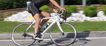 骑自行车特写镜头速度 库存照片