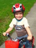 骑自行车的人一点 库存图片