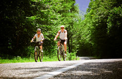 骑自行车的人二 库存照片
