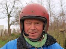 骑自行车的人俄语 免版税图库摄影