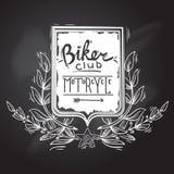 骑自行车的人俱乐部象征 皇族释放例证