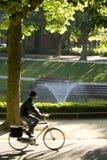 骑自行车的人公园 免版税库存图片