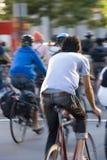 骑自行车的人城市弗朗西斯科・圣 免版税库存照片