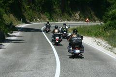 骑自行车的人摩托车砍刀乘驾 库存图片