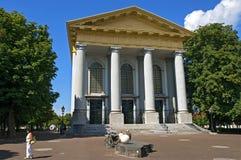 骑自行车的人新的教会的en步行者在济里克泽 库存图片