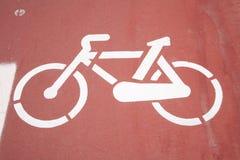 骑自行车的人方式油漆符号 库存图片