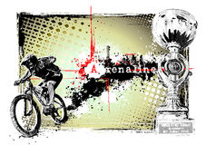 骑自行车的人框架 向量例证