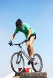 骑自行车的人活动堵塞试算 免版税库存照片