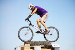骑自行车的人活动堵塞试算 免版税库存图片