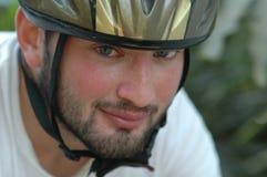 骑自行车的人纵向 库存图片