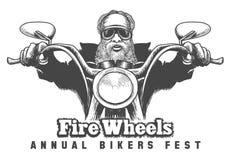 骑自行车的人节日象征 免版税库存照片