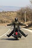 骑自行车的人路 免版税图库摄影