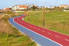 骑自行车的人运输路线符号 免版税库存图片
