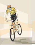 骑自行车的人年轻人 免版税图库摄影