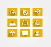 骑自行车的传染媒介象 免版税图库摄影