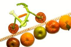 骑自行车的健康山 库存照片