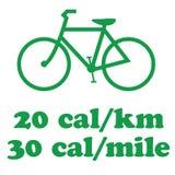 骑自行车的去的绿色 库存照片