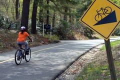 骑自行车的安全性 免版税库存图片