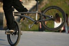 骑自行车的自由式 免版税库存图片
