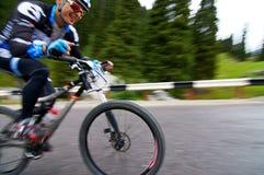 骑自行车的艰难竞争 库存照片
