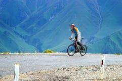 骑自行车的艰难竞争 免版税库存照片