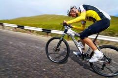 骑自行车的艰难竞争 库存图片