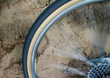 骑自行车的行动 库存图片
