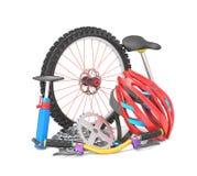 骑自行车的设备 库存照片
