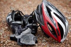 骑自行车的齿轮 库存图片