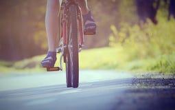 骑自行车的 库存照片