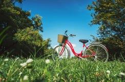 骑自行车红色 库存图片