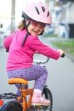 骑自行车者一点 图库摄影