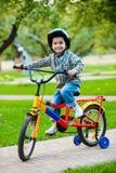 骑自行车者一点 库存图片