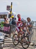 骑自行车者丹尼尔莫尔诺费尔南德斯 免版税图库摄影