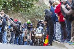 骑自行车者丹尼尔被放置的Mc -巴黎好2016年 库存照片