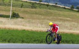 骑自行车者丹尼尔Navarro 免版税库存照片