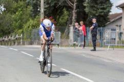 骑自行车者丹马丁- Criterium du杜法因呢2017年 库存照片