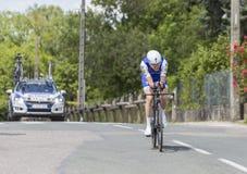 骑自行车者丹马丁- Criterium du杜法因呢2017年 库存图片